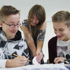Nyhetsskolans elever skriver nyheter