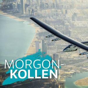 Solar Impulse 2 flyger mot Morgonkollen.