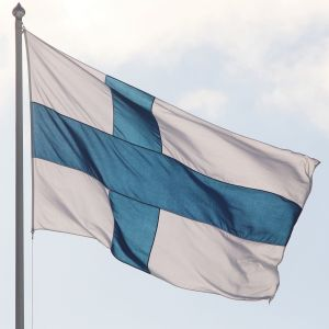 Finlands flagga.