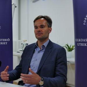 Utrikeshandelsminister Kai Mykkänen