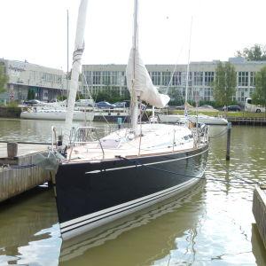 Swanbåt på regattan i Åbo 2012.
