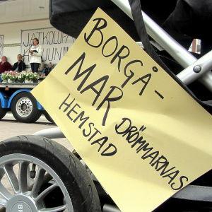 demonstration för Borgå bb