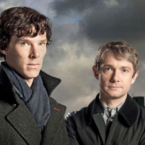 Sherlock Holmes (Benedict Cumberbatch) ja John Watson (Martin Freeman)