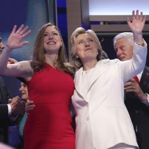 Hillary Clinton med sin familj