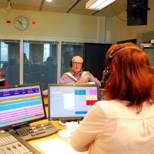 Pia Lagus intervjuar Ann-Katrine Burman och Stig Snickars