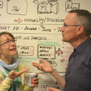 Melinda Lönnberg och Dan Idman var veckans fredagssnackare.