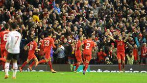 Liverpool firar mål