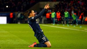 Zlatan Ibrahimovis ska försöka skjuta Paris Saint-Germain till kvartsfinal i Champions League.