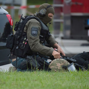 Polispådrag i München