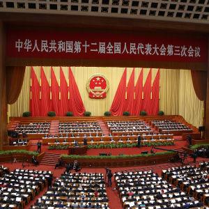Kinas ledning samlas till den 12 nationella folkkongressen i Peking.