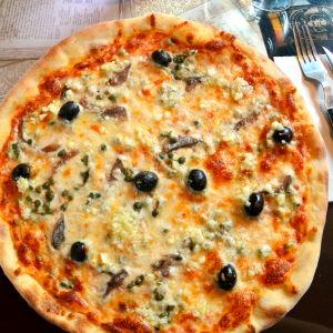 En pizza Siciliana