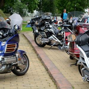 Gold Wing Honda motorcyklar.