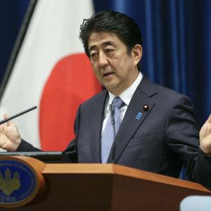 shinzo abe japans premiärminister.