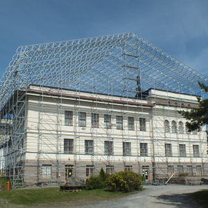 Kristinestads gymnasium renoveras