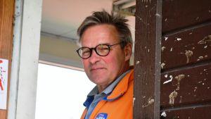 Tom Laitinen, tävlingsledare på Sjundeå Cup.