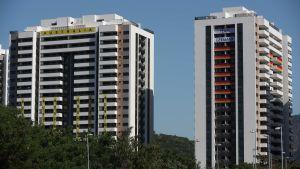 Australiens och Tysklands idrottare ska bo i de här byggnaderna i OS-byn i Rio de Janeiro.