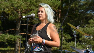 Miss Gay Finland, Catariina Salo, talade på Pargas Pride.