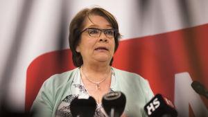 PAM:s ordförande Ann Selin efter förbundets styrelsemöte 17.3.2016.