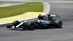Nico Rosberg var snabbast i Brasilien.