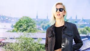 Veronica Maggio under presstillfället inför Allsång på Skansen 2016.