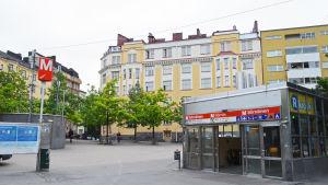 Vasaskvären i stadsdelen Åshöjden, här finns en öppning till Sörnäs metrostation