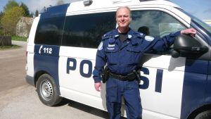 Överkonstapel Kristian Vidjeskog jobbar i Pargas