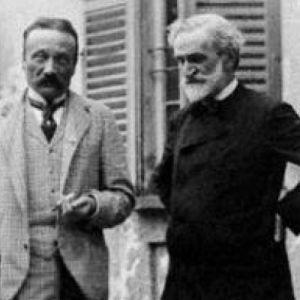 Libretisti Arrigo Boito ja säveltäjä Giuseppe Verdi