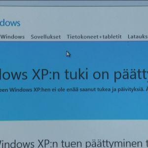 Tiedote XP-tuen päättymisestä.