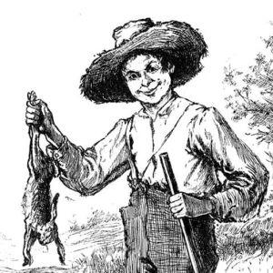 Adventures of Huckleberry Finn, Edward Winsor Kemblen kuva vuonna 1884 ilmestyneessä kirjassa.