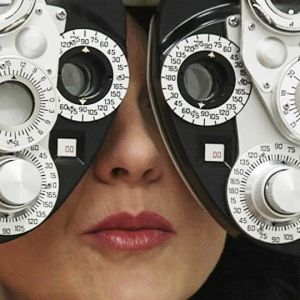 Syntest hos optikern.