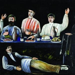 Sighnaghi Museum: Niko Pirosmani: Molokani Carousing, öljymaalaus