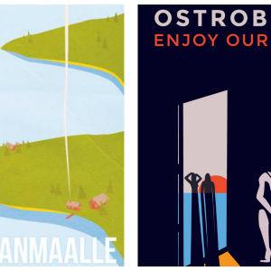 "Vinnaren och tvåan i affischtävlingen ""Destination: Österbotten"""