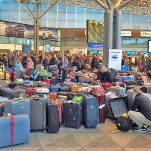 Störning i bagagehanteringen på Helsingfors-Vanda 21.3.2016