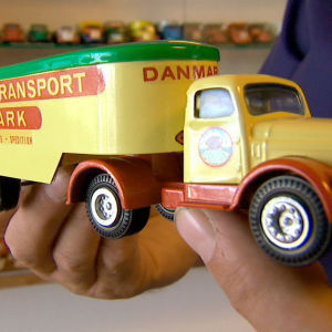 Tanskassa valmistettiin 1930 - 1960 -luvuilla pikkuautoja, nk. Tekno-autoja, jotka ovat nyt kysyttyjä kaikkialla. Yle Kuvapalvelu.