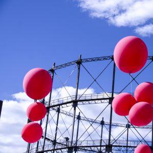 Ballonger på Flow-festivalen 2015.