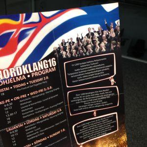Broschyr för festivalen Nordklang 2016.