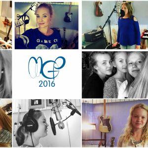 MGP-artisterna i musikstudion.