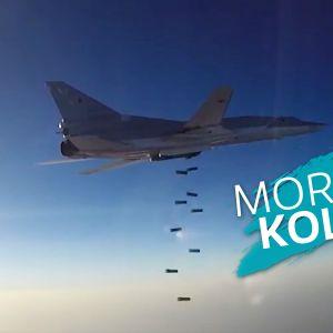 Morgonkollen - Jaktplan (Tupolev Tu-22M) fäller bomber över Aleppo
