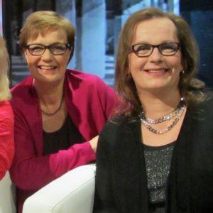 Maritta Pulkkinen (vas,), Hilla Blomberg, Vera Maria Räsänen