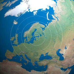 Kuva Suomesta avaruudesta katsottuna