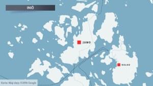 Karta över Jumo i Iniö