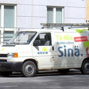 Anvias skåpbil parkerad i Vasa.