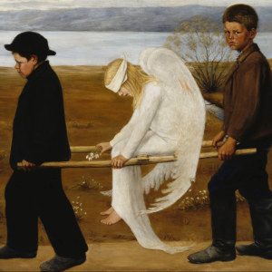 Hugo Simberg: Sårad ängel (1903).