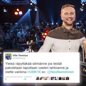 Mikko Silvennoinen ja Rakel Liekki sekä hauska twiitti.