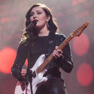 Stella Christine esiintymässä Uuden Musiikin Kilpailussa Karsinta 1:ssä.