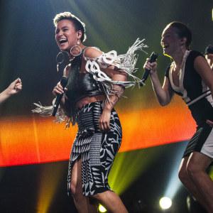 Sandhja esiintymässä Uuden Musiikin Kilpailussa Karsinta 3:ssa.