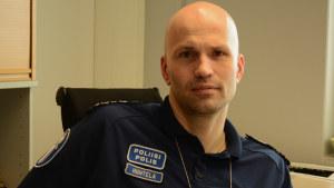 Överkommissarie Jussi Huhtela vid Helsingforspolisen.