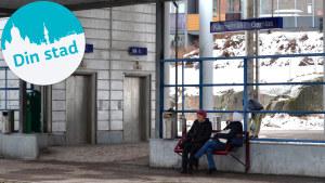 Exteriör av ny tågstation.