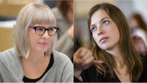 Aino-Kaisa Pekonen och Li Andersson.