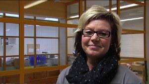 Anette Asplund-Kähärä, skolgångshandledare i Näse skola i Borgå.